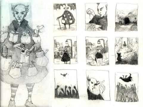Mr. Magpie Concept Thumbnails