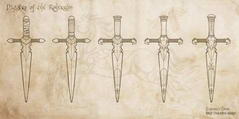 Rohirric Dagger Sketches | 2012