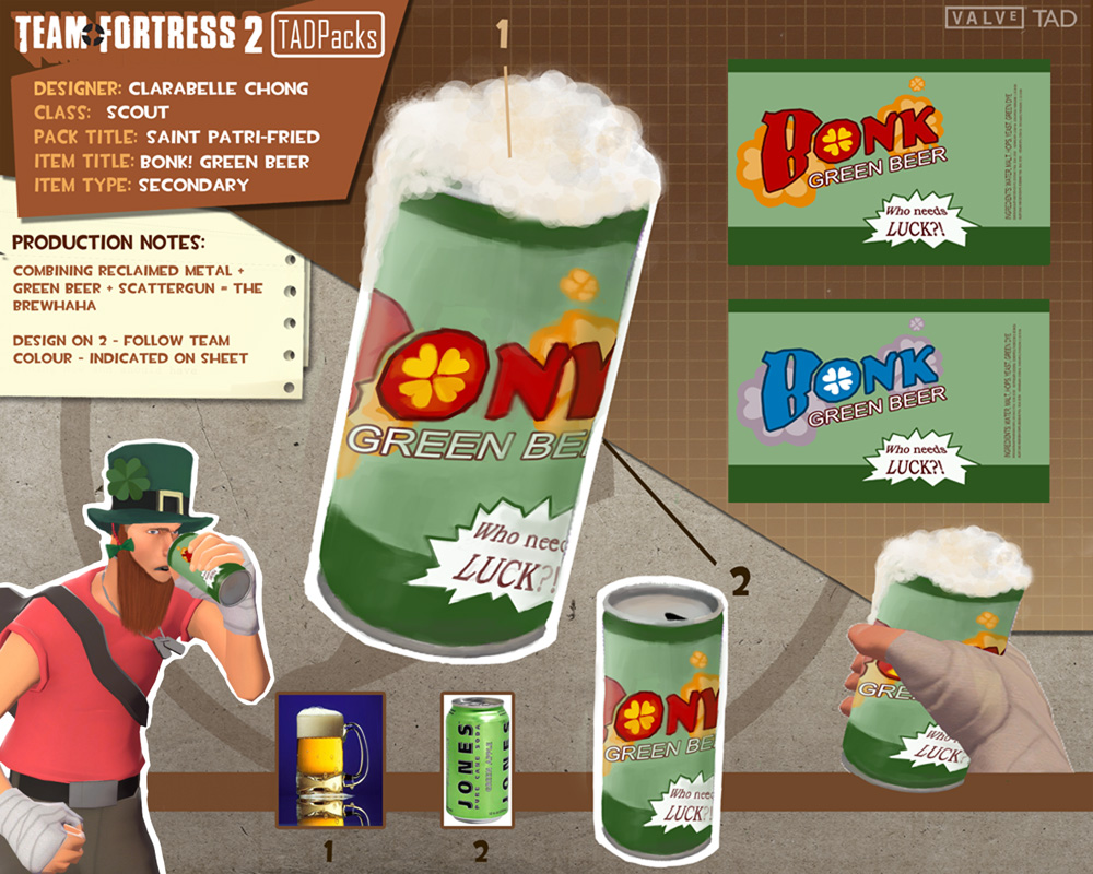 Team Fortress 2 St Patrick S Day Pack Clarabelle Chong