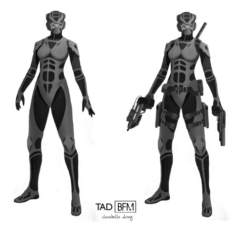 Assassin Concept - Rough Render Grayscale | 2012