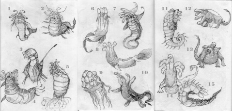 Sea Monster Concepts | 2012