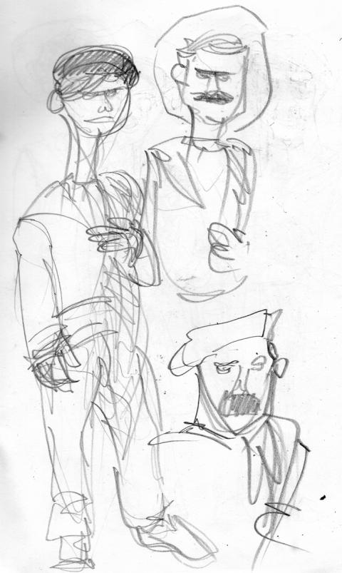 Fishermen Sketch 1