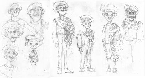 Fishermen Sketch 2