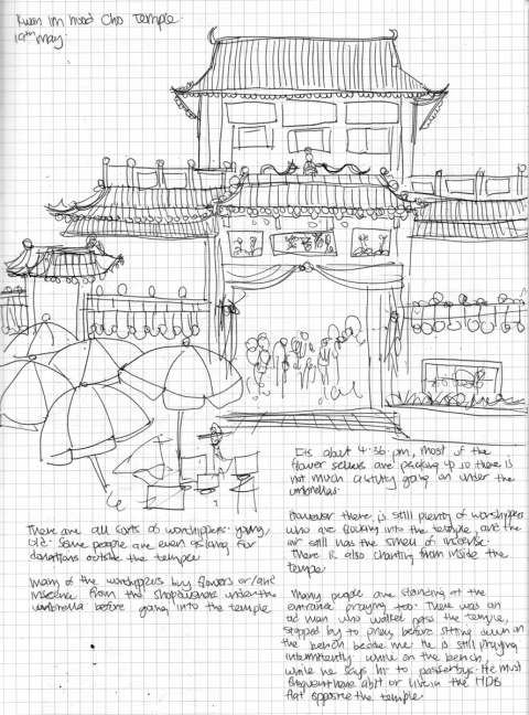 Sketchbook - Kwan Im Thong Hood Cho Temple